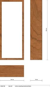 SRS | 3504-70W surface mount hardwood frame drawing