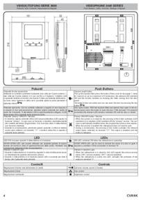 Videx instructions for video 3600 monitor art.3656