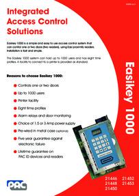 PAC Easikey 1000 data sheet
