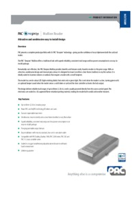PAC brochure for Mullion proximity reader