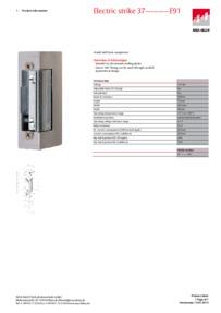 Eff Eff 3905A-E91 data sheet