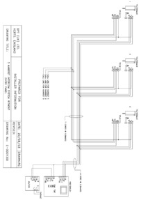 BPT wiring diagram - 3 handset intercom without entry panel.
