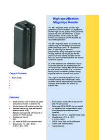 SRS - MR5 Magstripe reader brochure