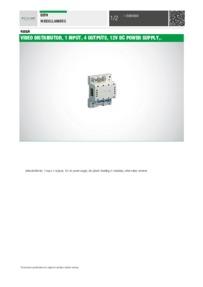 Comelit 4555/A data sheet