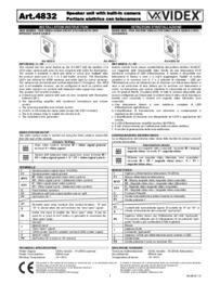 Videx 4832 audio + camera modules - Installation Guide