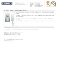Fermax 4863. 3 WAY 4+N CITY AUDIO KIT