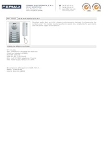 Fermax 4865. 10 WAY 4+N CITY AUDIO KIT