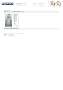 Fermax 4867. 12 WAY 4+N CITY AUDIO KIT