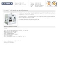 Fermax 4887. 1 WAY VDS COLOUR PRIVATE KIT