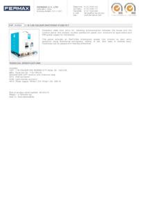 Fermax 4889. 1 WAY VDS COLOUR INFO SCREEN KIT
