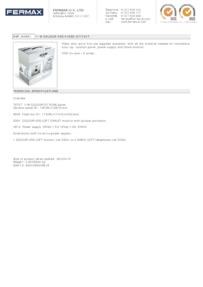 Fermax 4961. 1 WAY VDS COLOUR CITY VIDEO KIT