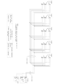 BPT wiring diagram - 5 handset intercom without entry panel.