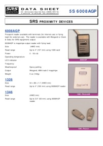 HID 6008AGP Proximity reader, cards and tokens