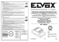 Elvox 692D/2 Wiring diagram