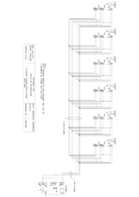 BPT wiring diagram - 6 handset intercom without entry panel.