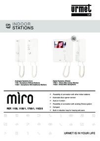 Urmet Miro data sheet