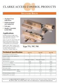 Clarke-Instruments 771, 795 & 797 Solenoid Bolts