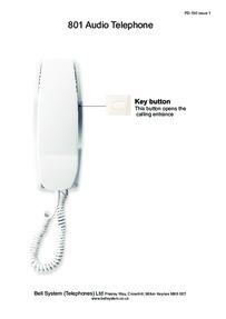 Bell (BSTL) 801 Phone User Guide