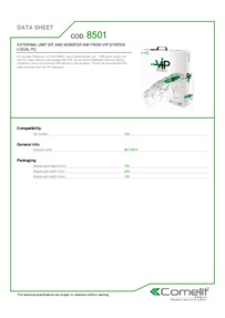 Comelit 8501 data sheet