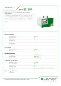 Comelit 8512IM data sheet