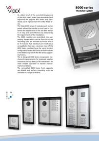 Videx 8000 Series Brochure