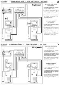 Fermax instructions for VDS video switcher module Art. 2450