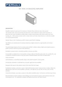 FERMAX 4+n Building Amplifier Module Brochure
