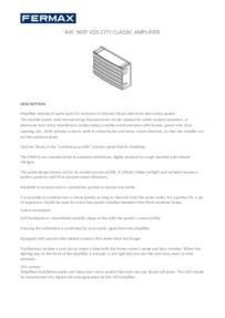 FERMAX VDS Amplifier Module Brochure