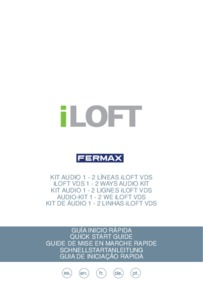 Fermax instructions for VDS iLoft audio kit
