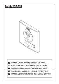 Fermax instructions for City audio kit Arts. 4860 and 4862