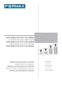 Fermax instructions for City audio kit