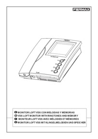 Fermax instructions for VDS loft moniter Art. 4955