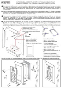 Fermax instructions for City panel decorative frame Art.9198