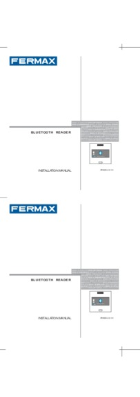 Fermax instructions for Marine bluetooth reader