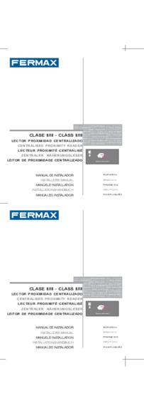Fermax instruction for marine proximity reader Art. 5472