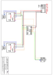 Videx Diagram Audio, 8000 series, 2 entrance (8836M-1), calling 1 phone
