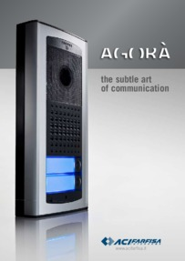 Farfisa brochure for Agora entry panels