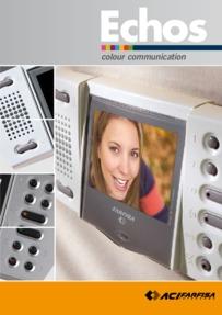 Farfisa brochure for Echos monitors