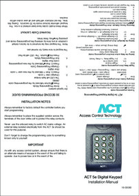 ACT 5e - Installation manual - Oct 2017