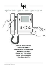BPT Agata V 200 installation manual
