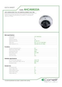 Comelit AHCAM633A data sheet