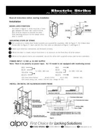 AL110 ANSI Electric Strike Instructions Mar10