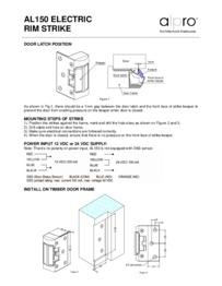 Alpro AL150 series instructions