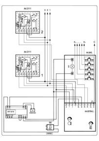 Videx 837 series Audio Wiring Diagram - 1 x Entrance, n x phones, 521B PSU (battery backup)