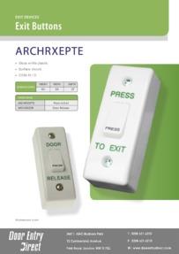 ARCHRXE_PTE-DR Exit Buttons Brochure