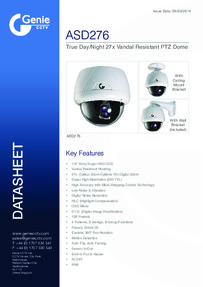 ASD276 Camera data sheet