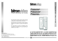 Bitron    AV1407-050 6 button module with Privacy LED and Door Monitor LED instructions