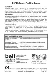 Bell BS-FB flashing beacon installation instructions