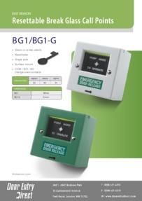 BG1 / BG1-G Resettable Break Glass Call Points Brochure