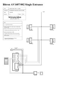 Bitron wiring diagram for AV1407-002